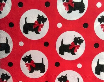 446 COSCONILHA TERRIERS pattern 4 X 1 paper towel