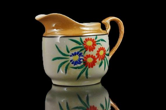 Creamer, Japanese Lusterware, Hand Painted