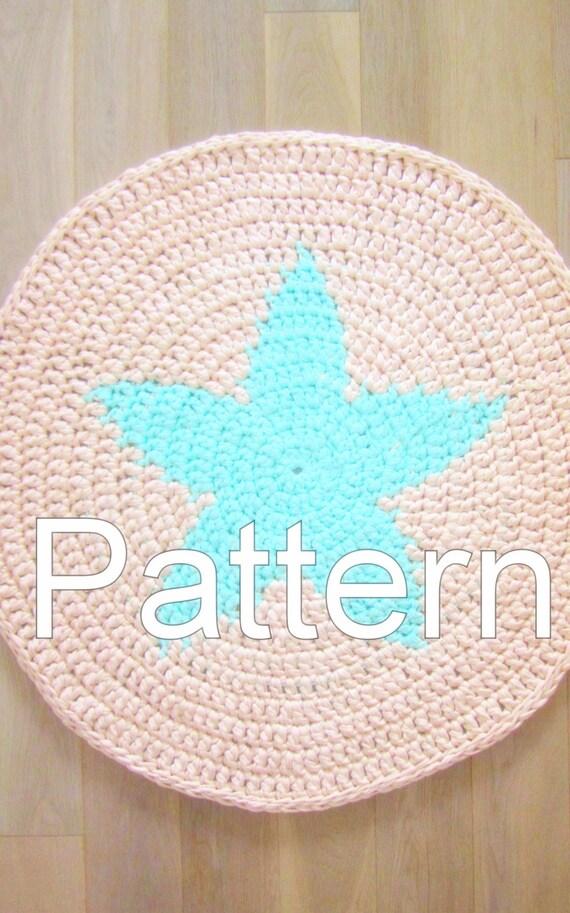 CROCHET RUG PATTERN/ Crochet Star Carpet / Rug Pattern/