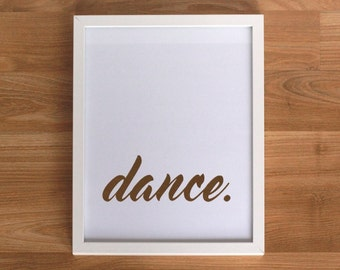 Gold foil print - Dance