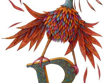 Monster - Kids Wall Art - Letter R - Monster Poster - Monster Art - Giclee Poster - Monster Poster - Alphabet Poster