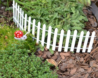 White Picket Fence for Fairy Garden