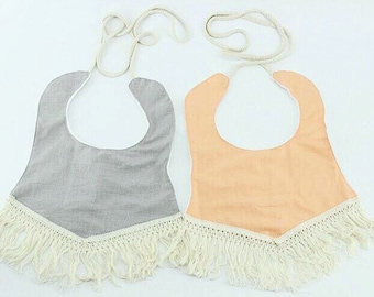 Boho Chic Cotton Fringed Baby Bibs