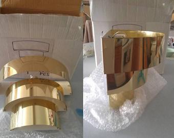 Art Deco/Mid century modern brass wall sconce - NIB