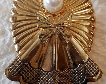 Vintage Jane Angel Pin, Christmas Angel Pin, Jane Angel Pin