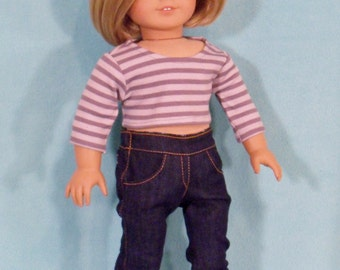 American Made 18 inch Doll Denim Boot Cut Jeans fits American Girl Dolls