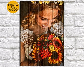 Rustic Wedding gift for couple gift Wood picture frame Wedding gift for Women gift for Best friend gift for Bridal shower gift photo print