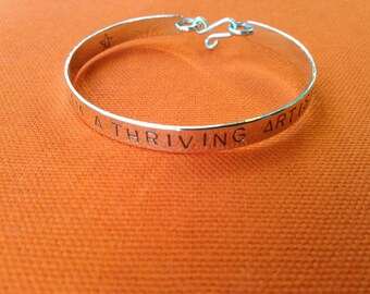THRIVING ARTIST bangle in copper, brass or sterling silver