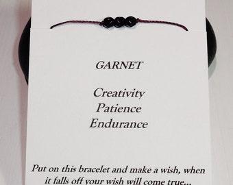 January Birthday Bracelet or Anklet - Swarovski Garnet Birthstone, BFF, Best Friend, Friendship Gift, Inspirational, Meaningful Gift