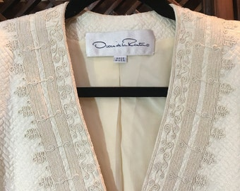Reduced Price--Oscar De La Renta white 1960's suit