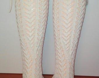 Hand knitted ladies ' socks, knee socks GR-37-39