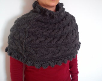 Knitted and Crocheted Capelet Shoulder Warmer  Neck warmer Ready to ship