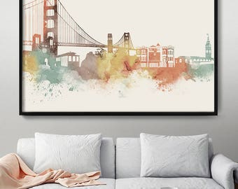 San Francisco Art, San Francisco Wall Art, City Prints, City Art, San