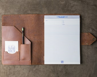 Personalized Groomsmen Gift - The Vanderbilt Fine Leather Portfolio - Groomsmen Gifts - Wedding Party Gift - Best Man Gift - Journals