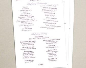 Wedding mass program   Etsy