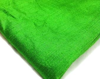 Indian Silk Fabric - Pure Silk Dupioni - Raw Mulberry Silk - Emerald Green Raw Silk - Indian Dupioni Silk -Dupioni Silk