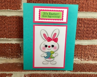 OOAK It's Easter How Egg-sciting! Easter Bunny card