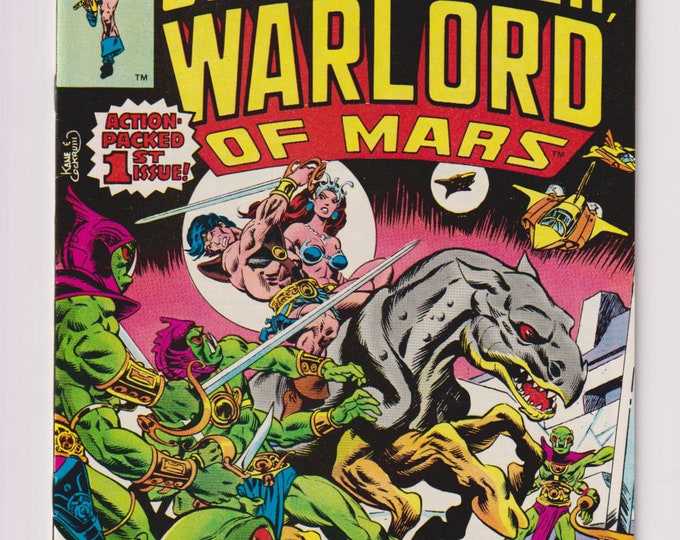 John Carter, Warlord of Mars, Vol 1, 1 Bronze Age Comic Book.  VF/NM (9.0). June 1977.  Marvel Comics.