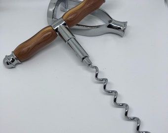 Natural aromatic cedar handled cork screw