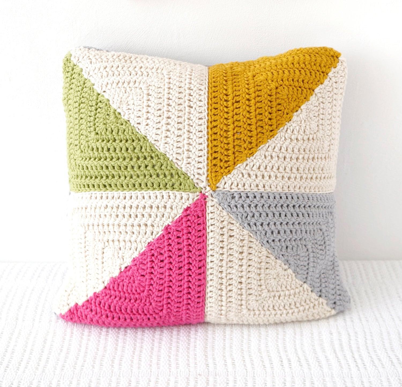 Modern Pillow Crochet Pattern Girls Room Crochet Cushion