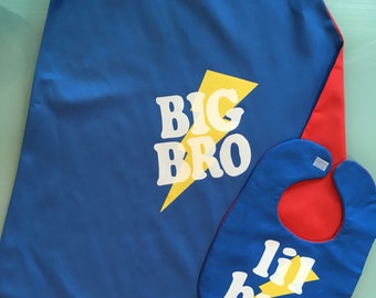 Big Brother / Little Brother Cape - Handmade and Reversible