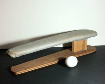 Vintage Handmade Sleeve Ironing Board / Vintage Handmade Sleeve Board Pressing Tool / Vintage Tailors Press Ironing Board /
