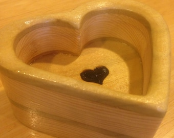 Wooden Heart in Heart Ring - Jewelry - Dish / Tray