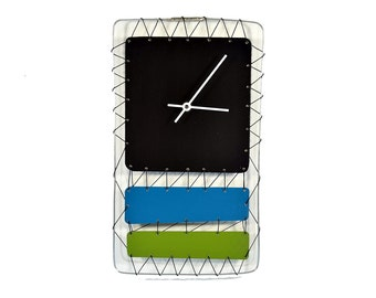 Abstract Wire Art Clock Mixed media Modern