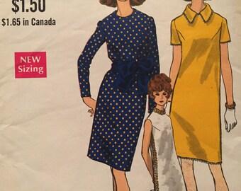 SALE Classic Vintage Shift Dress---Vogue 7366---Size 14  Bust 36