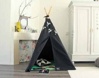 Teepee Tent | MIDI size | Black Canvas Drill teepee tent | SALE