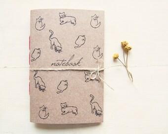 Carnet de chat, chat journal à la main écologique inspirée par Picasso