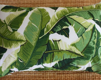 banana leaf outdoor lumbar cushion covers