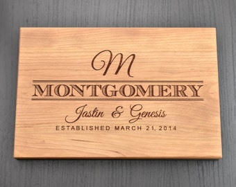 Custom Cutting Board - Engraved Cutting Board, Personalized Cutting Board, Wedding Gift, Housewarming Gift, Anniversary Gift, Christmas Gift