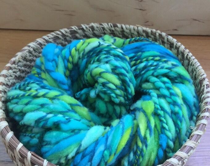Insouciant Studios Hand Spun Yarn Electric Limes