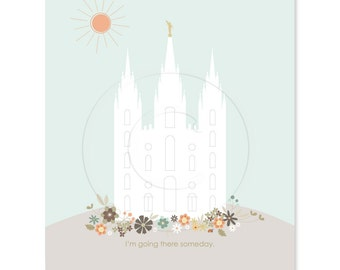 LARGE LDS Temple Printout - 16 x 20 inch - Printable digital file - Instant Download - Lulu