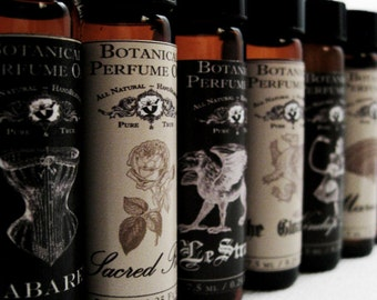 Natural Perfume, 1/4 oz. Pick Your Potion. Botanical Perfume Oil. Organic Essential Oils.