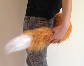 Fox Tail Costume, Fur Clip On, Cosplay