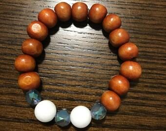Laguna Bracelet - Summer Beaded Bracelet - Boho Chic Beaded - Pop of Color