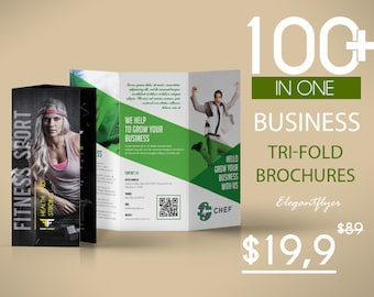 100+ Awesome Business Tri-fold Brochures for Photoshop | Design Brochure | Business Brochure templates | Instant Download