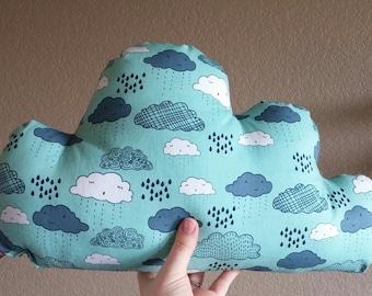 Small Rainy Cloud Arrow Pillow