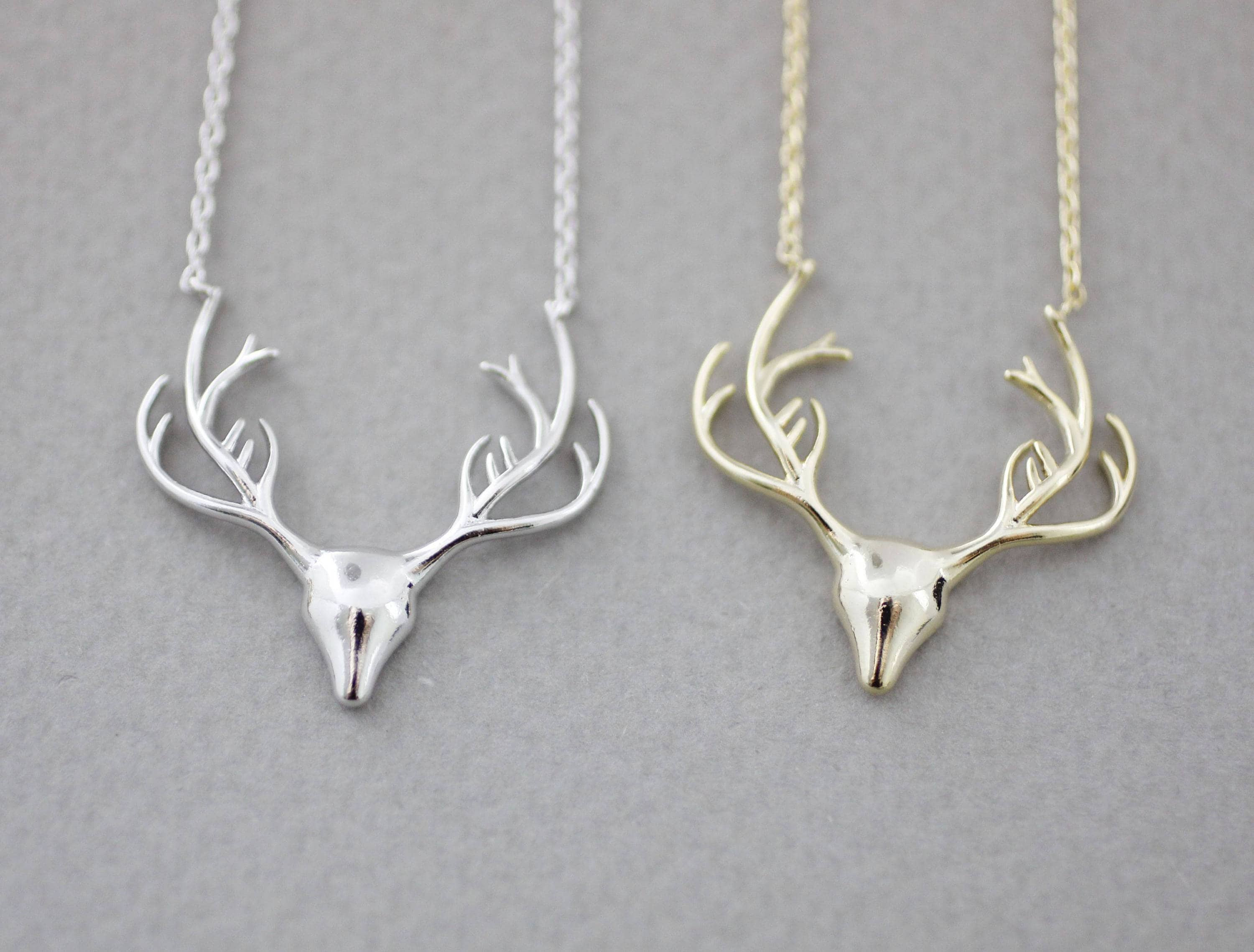 cow skull bronze store deer necklace pendant
