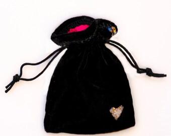Tooth Fairy Bag, Toothfairy bag, velvet bag, velvet pouch, drawstring pouch, drawstring bag, elegant bag, elegant pouch