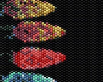 Christmas Lights Peyote Stitch Bracelet Pattern