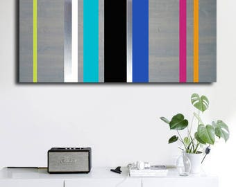 Minimalist Large Art, Metal Art, Bedroom Art Paintings, Wall Sculpture, Metal Wood Wall Art, Home Decor