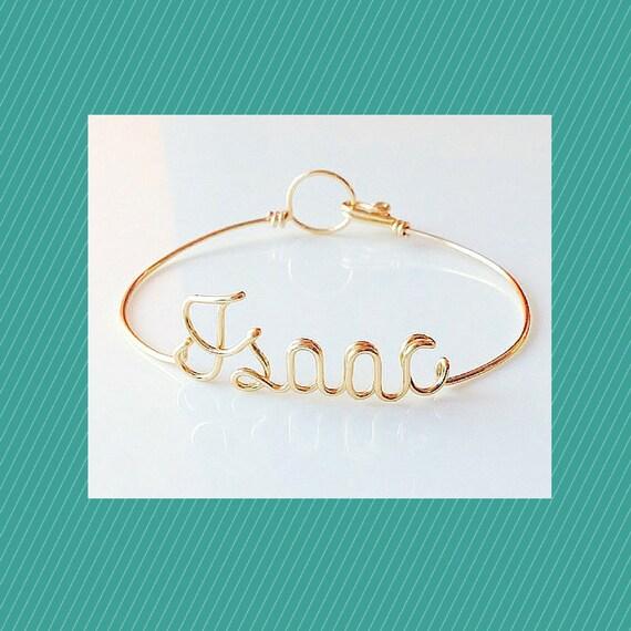 Name Bracelet. Personalise Bracelet. wire word bracelet. wire
