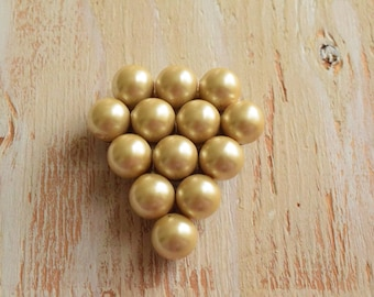 1930's Pearl Cluster Dress Clip  | Art Deco Grape Bauble  Clip