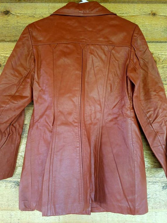 1970s Montgomery Ward The Tannery Leather Jacket 11/12 5PGCPE