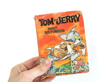 Tom & Jerry Meet Mr. Fingers, Tom and Jerry Book, Vintage Book, Tom and Jerry, A Big Little Book, Tom and Jerry Collectible, Adventure, 1967