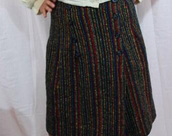 SALE ITEM Vintage Stripe Wrap Skirt