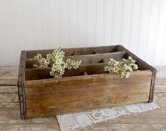 Vintage Soda Crate, Vintage Bottle Crate, Vintage Farmhouse Decor, Industrial Home Decor, Vintage Wood Crate, Loft Decor Rustic Home Decor